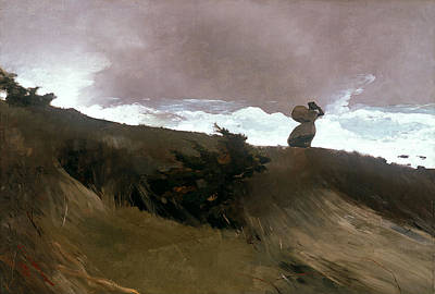Winslow Homer Painting - The West Wind by Winslow Homer