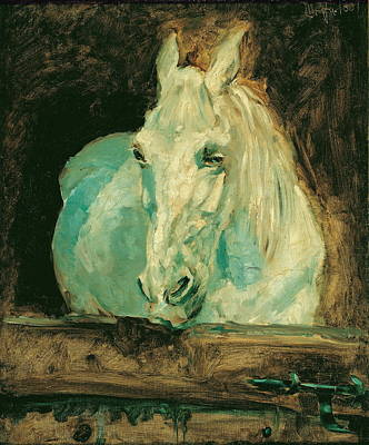Gazelle Painting - The White Horse Gazelle by Henri de Toulouse-Lautrec