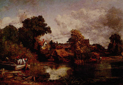 John Constable Painting - The White Horse by John Constable