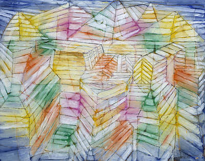 Painting - Theater-mountain-construction by Paul Klee