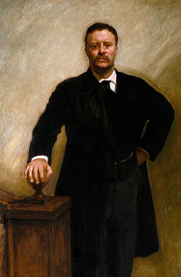 Teddy Painting - Theodore Roosevelt by John Singer Sargent