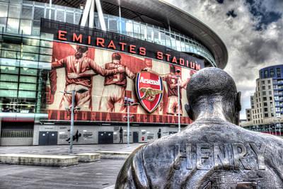 Thierry Henry Statue Emirates Stadium Art Print