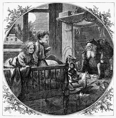 Christmas Eve Photograph - Thomas Nast: Christmas by Granger
