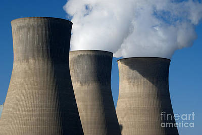 Katharine Hepburn - Three cooling towers at a Power Plant. by Anthony Totah