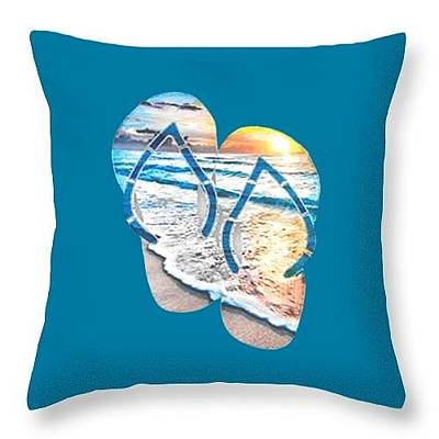 Painting - Throw Pillow by Herb Strobino
