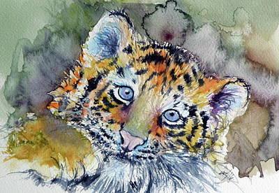 Tiger Cub Painting - Tiger Cub by Kovacs Anna Brigitta