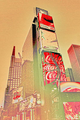 American City Scene Digital Art - Times Square by Erin Cadigan