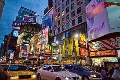 Times Square Art Print by June Marie Sobrito