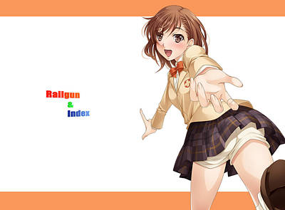 Fashion Digital Art - To Aru Kagaku No Railgun by Super Lovely