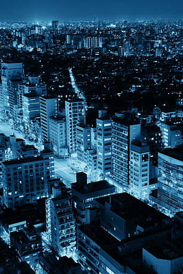 Photograph - Tokyo Night by Songquan Deng