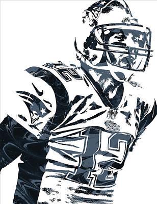 Mixed Media - Tom Brady New England Patriots Pixel Art 5 by Joe Hamilton