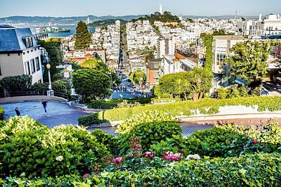 Photograph - Top City Views From Lombard Street In San Francisco California by Alex Grichenko