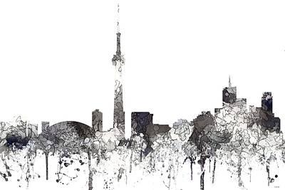 Digital Art - Toronto Ont.skyline by Marlene Watson