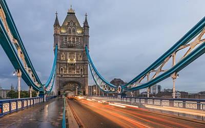 Landmark Digital Art - Tower Bridge by Super Lovely