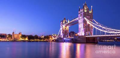Building Exterior Mixed Media - Tower Bridge by Svetlana Sewell
