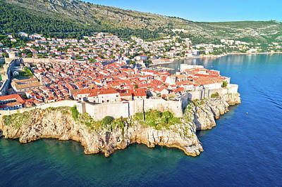 Antlers - Town of Dubrovnik city walls UNESCO world heritage site aerial v by Brch Photography