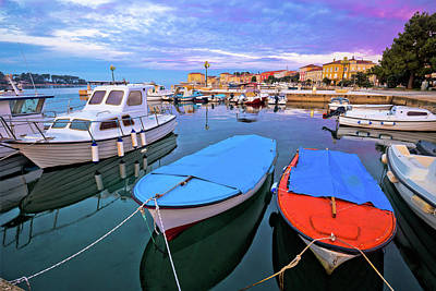 Photograph - Town Of Porec Morning Sunrise Panoramic View From Pier by Brch Photography