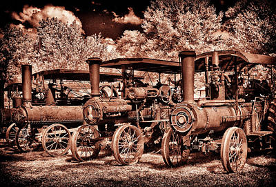 Photograph - 3 Tractors In A Row by Paul W Faust - Impressions of Light