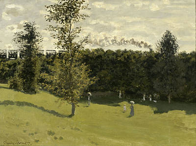 Painting - Train In The Countryside by Claude Monet