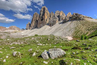 Photograph - Tre Cime - Dolomiti by Joana Kruse