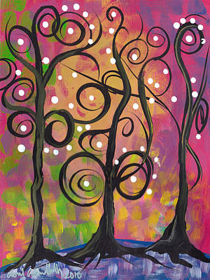 3 Trees Art Print by  Abril Andrade Griffith