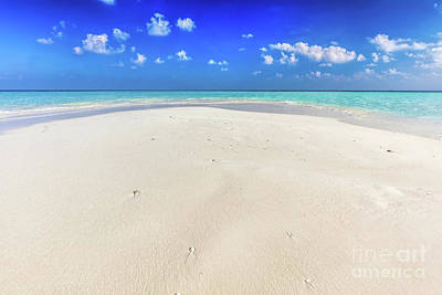 Photograph - Tropical Beach With White Sand And Clear Turquoise Ocean. Maldives by Michal Bednarek