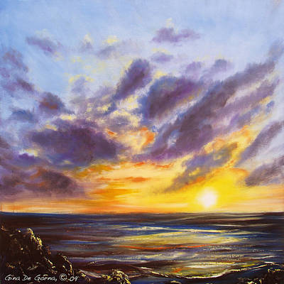 Painting - Tropical Sunset by Gina De Gorna