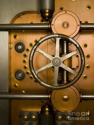 Enterprise Photograph - Tumbler On A Vault Door by Adam Crowley