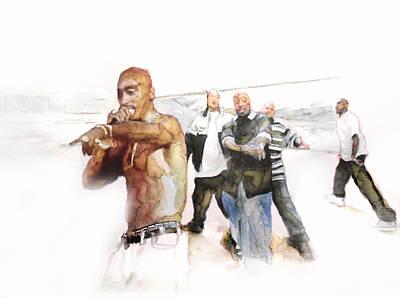Jay Z Drawing - Tupac  by Jani Heinonen
