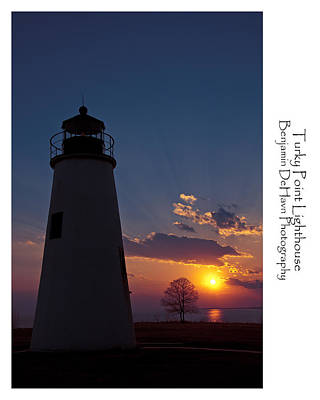 Chesapeake Bay Photograph - Turkey Point Lighthouse by Benjamin DeHaven