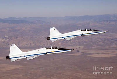 Priska Wettstein Land Shapes Series - Two T-38a Mission Support Aircraft Fly by Stocktrek Images