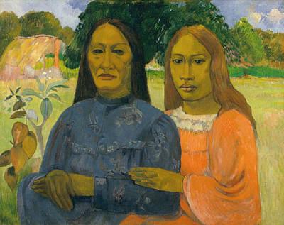 Bucolic Painting - Two Women by Paul Gauguin