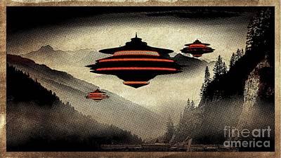 Paranormal Digital Art - Ufo Pop Art By Raphael Terra by Raphael Terra