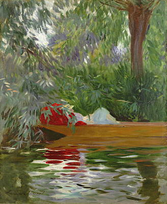 Under The Willows Art Print by John Singer Sargent