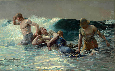 Winslow Homer Painting - Undertow by Winslow Homer