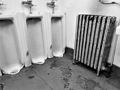 On Trend At The Pool - 3 Urinals 1 Radiator And Part Of A Sink by Rob Hans