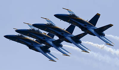 F-18 Photograph - Us Navy Blue Angels Poster by Dustin K Ryan