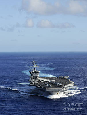 Us Navy Painting - Uss Carl Vinson by Celestial Images