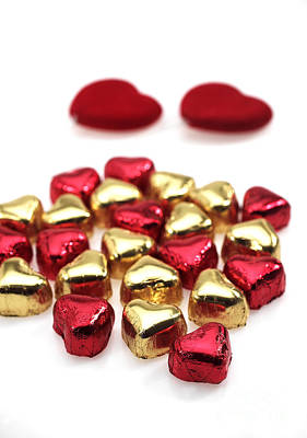 Photograph - Valentines Day Chocolates by Gerard Lacz