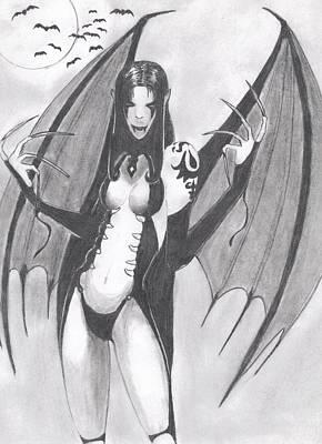 Vampire Art Print by Josh Bennett