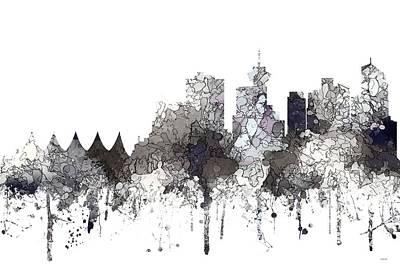 Digital Art - Vancouver B.c. Skyline by Marlene Watson