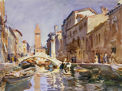 Drawing - Venetian Canal by John Singer Sargent