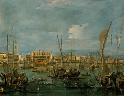 Painting - Venice From The Bacino Di San Marco by Treasury Classics Art