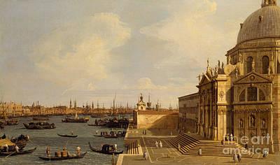 Venice  Santa Maria Della Salute Art Print by Canaletto