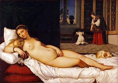 Venus Of Urbino Art Print by Titian