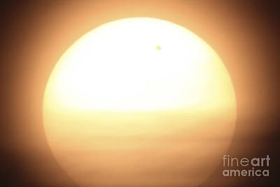 Venus Transiting In Front Of The Sun Art Print by Fahad Sulehria