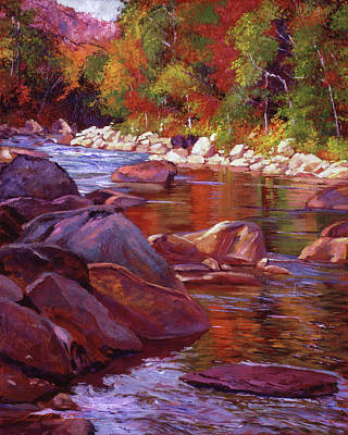 Painting - Vermont River by David Lloyd Glover