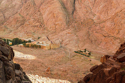 View At St. Catherine's Monastery From Monks Path Art Print by Khristina Ripak