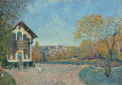 Painting - View Of Marly-le-roi From Coeur-volant by Alfred Sisley