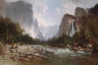 Yosemite Painting - View Of Yosemite Valley by MotionAge Designs